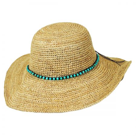 Callanan Hats Beaded Band Raffia Straw Swinger Hat