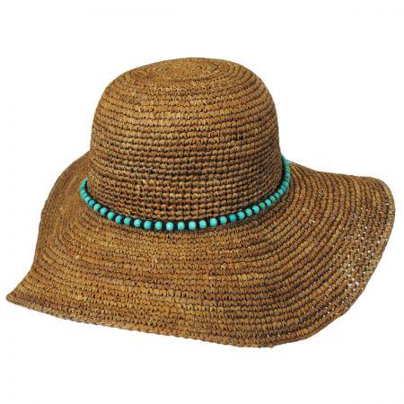 Callanan Hats Beaded Band Straw Swinger Hat