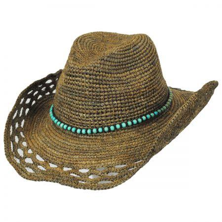 Callanan Hats Bead Band Raffia Straw Western Hat