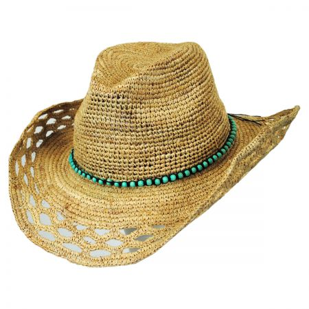 Callanan Hats Bead Band Raffia Straw Western Hat