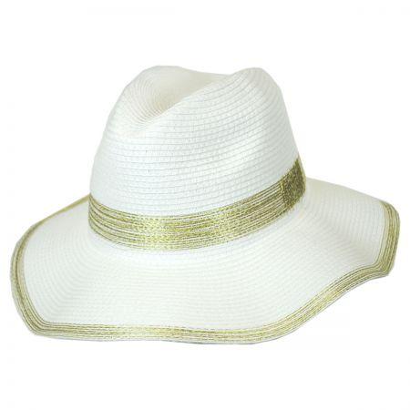 Callanan Hats Lurex Stitches Toyo Straw Floppy Fedora Hat