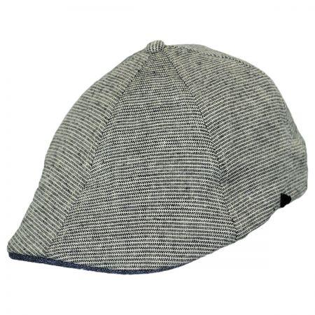 EK Collection by New Era Striped Cotton Duckbill Ivy Cap