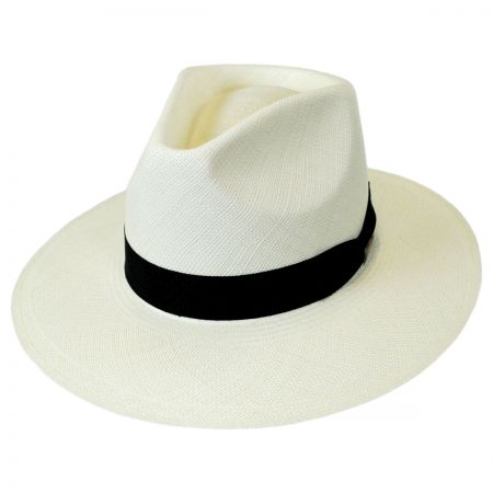 Biltmore Columbia Panama Straw Safari Fedora Hat - VHS Exclusive