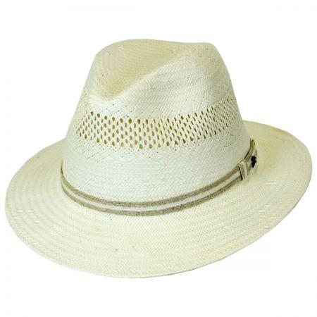Tommy Bahama Jute Trim Toyo Straw Safari Fedora Hat