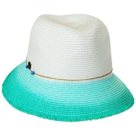 Tommy Bahama Dip Dye Straw Fedora Hat