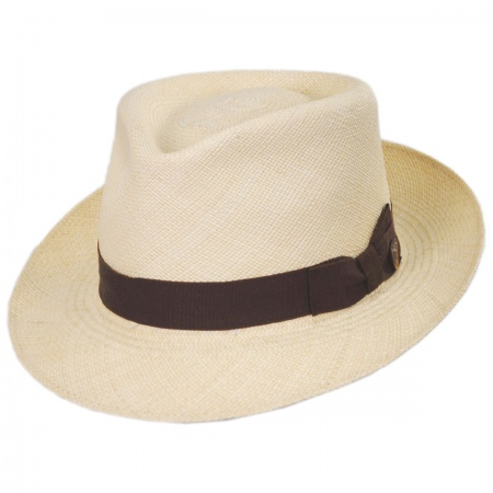 Jasper Grade 8 Panama Straw Fedora Hat alternate view 1