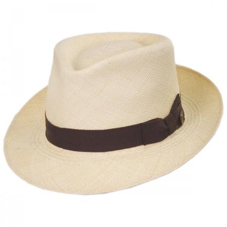 Dobbs Jasper Grade 8 Panama Straw Fedora Hat