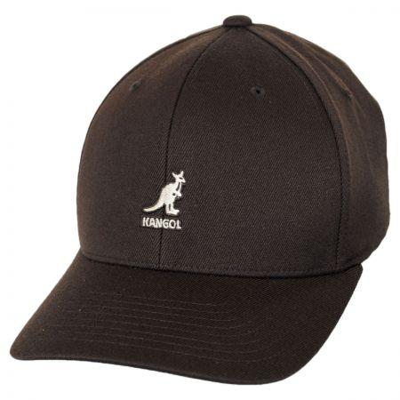 Kangol Logo Wool FlexFit Fitted Baseball Cap Fitted Baseball Caps 459ee2a99ab