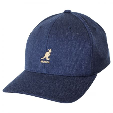 Kangol Logo Wool FlexFit Fitted Baseball Cap
