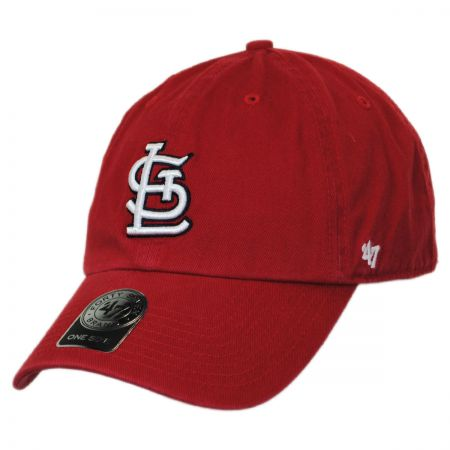 47 Brand St Louis Cardinals MLB Clean Up Strapback Baseball Cap Dad Hat