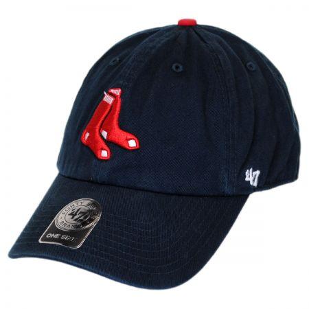 Boston Red Sox MLB Clean Up Strapback Baseball Cap Dad Hat alternate view 1