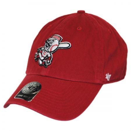 47 Brand Cincinnati Reds Mr. Red MLB Clean Up Strapback Baseball Cap