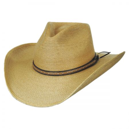 Sawmill Palm Leaf Straw Western Hat alternate view 1