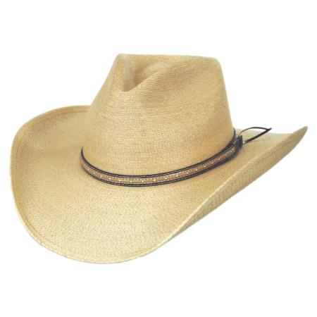 eecd0f244 Sawmill Palm Leaf Straw Western Hat