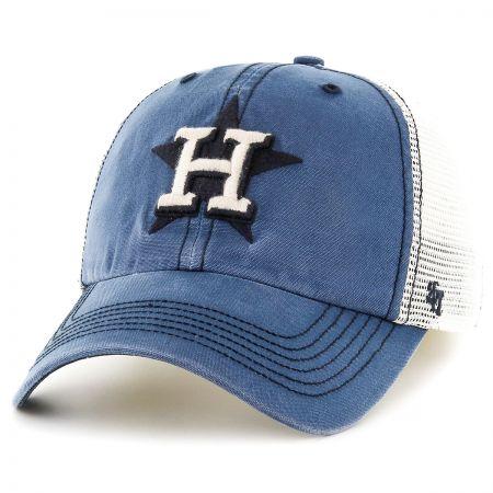 47 Brand Houston Astros MLB Rockford Mesh Fitted Baseball Cap