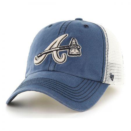 47 Brand Atlanta Braves MLB Rockford Mesh Fitted Baseball Cap