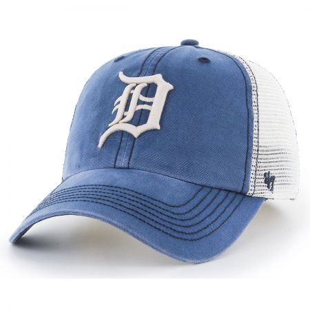 47 Brand Detroit Tigers MLB Rockford Mesh Fitted Baseball Cap
