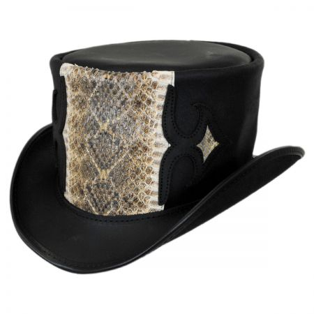 Head 'N Home Caliber Rattlesnake Leather Topper Hat