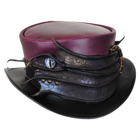 Perfect Malfoy Leather Top Hat alternate view 1