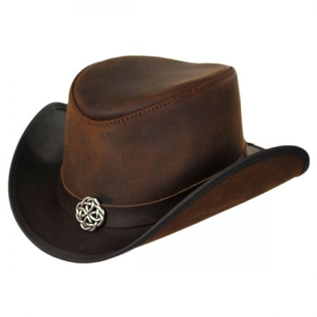 Head 'N Home Rider Knot Leather Topper Hat