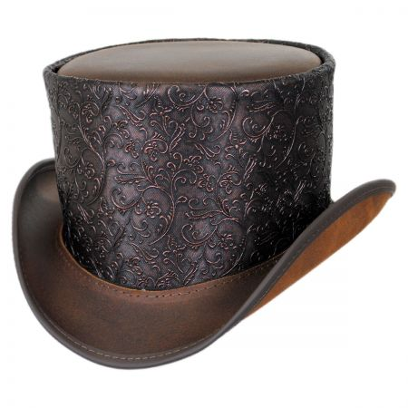 Head 'N Home Gent Leather Topper Hat