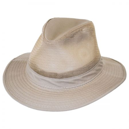 Dorfman Pacific Safari Mesh Packable Hat