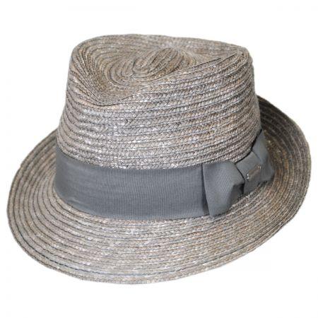 Kangol Wheat Braid Straw Arnold Trilby Fedora Hat