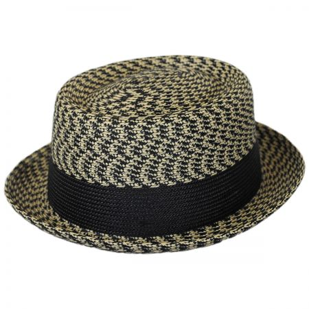 Bailey Telemannes Poly Braid Straw Pork Pie Hat