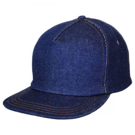 New York Hat & Cap Denim Strapback Baseball Cap