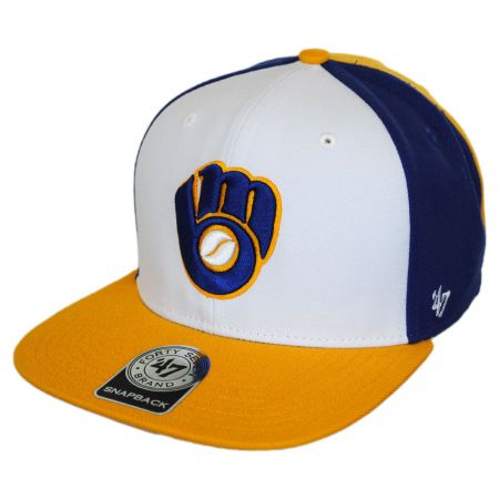 Milwaukee Brewers MLB Amble Snapback Baseball Cap alternate view 1