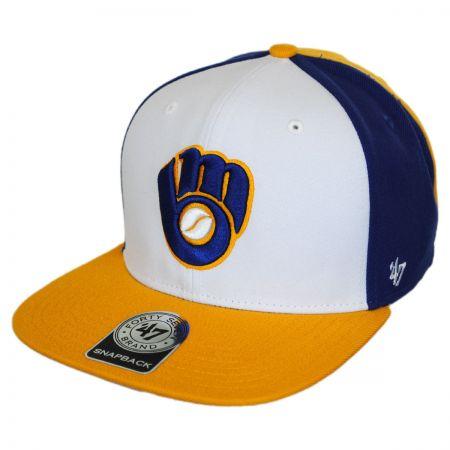 47 Brand Milwaukee Brewers MLB Amble Snapback Baseball Cap