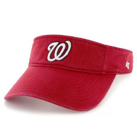 47 Brand Washington Nationals MLB Clean Up Adjustable Visor