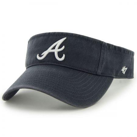 47 Brand Atlanta Braves MLB Clean Up Adjustable Visor