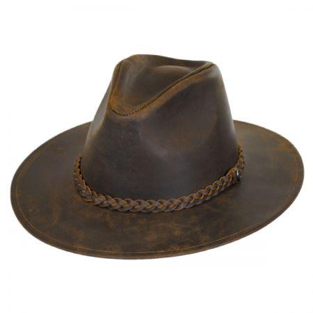 Jaxon Hats Buffalo Leather Western Hat