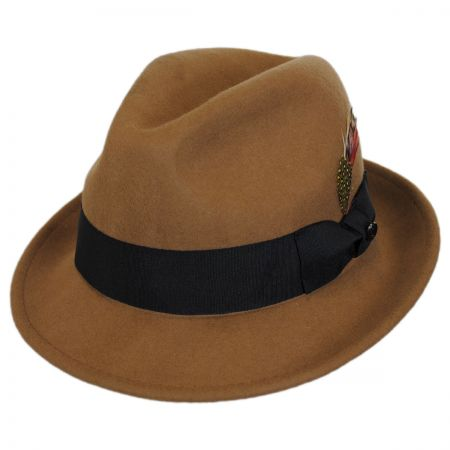 Blues Crushable Wool Felt Trilby Fedora Hat alternate view 68