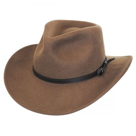 Crushable Wool Felt Outback Hat