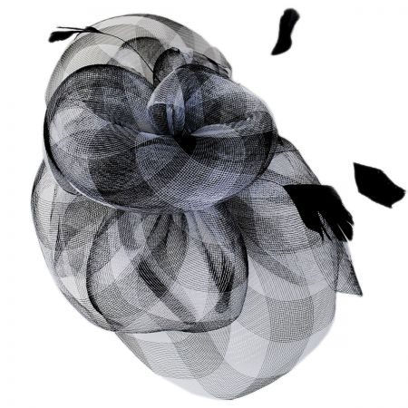 Gingham Mesh Fascinator Headband alternate view 1
