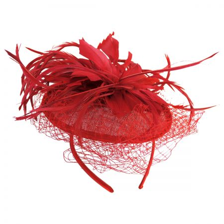 Veil and Feather Fascinator Headband alternate view 4