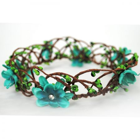 Jeanne Simmons Floral Crown with Headband