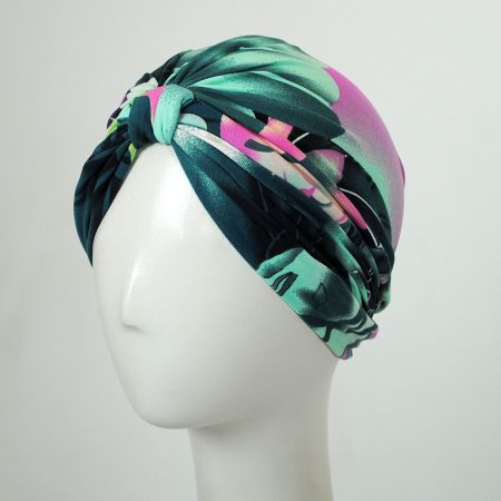 Jeanne Simmons Tropical Print Soft Poly Turban