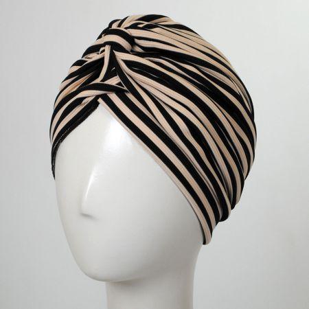 Striped Soft Poly Turban alternate view 2