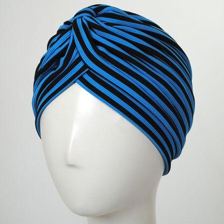 Striped Soft Poly Turban alternate view 4