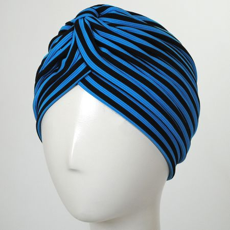 Jeanne Simmons Striped Soft Poly Turban
