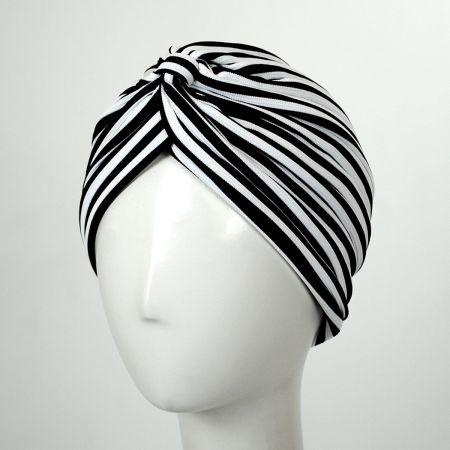 Striped Soft Poly Turban alternate view 5