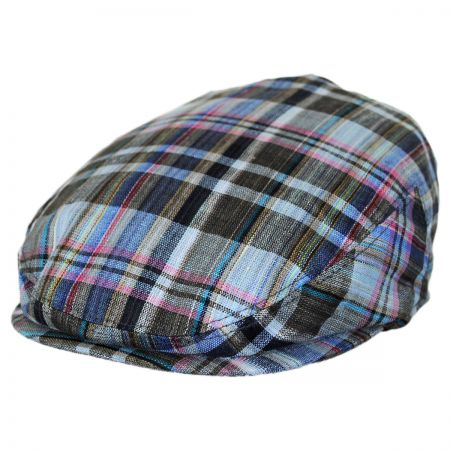 Jeanne Simmons Kids' Plaid Linen Ivy Cap