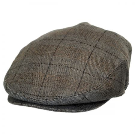 Baskerville Hat Company Cashmere Staple Plaid Ivy Cap