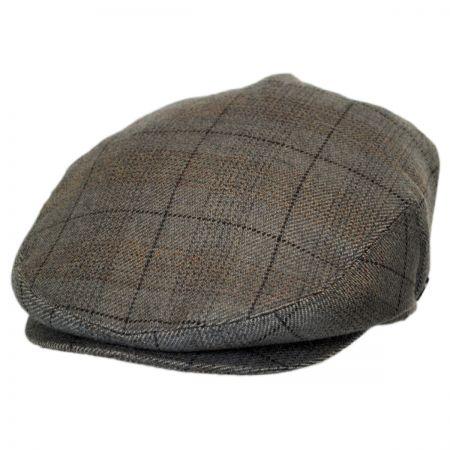 Baskerville Hat Company Stapleton Plaid Cashmere Ivy Cap