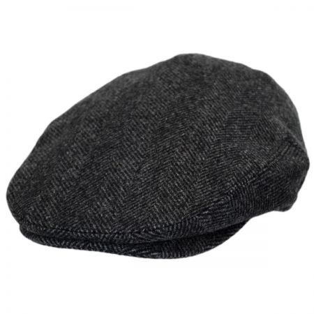 Baskerville Hat Company Coombe Herringbone English Wool Ivy Cap