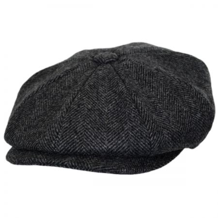 Baskerville Hat Company Coombe Herringbone Newsboy Cap