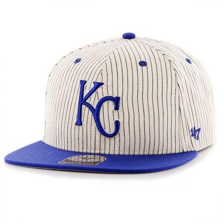 47 Brand Kansas City Royals MLB Woodside Stripe Snapback Baseball Cap